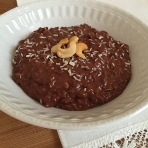 Chocolate Oatmeal with Cashew Butter
