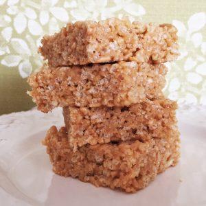 healthy rice crispy treat