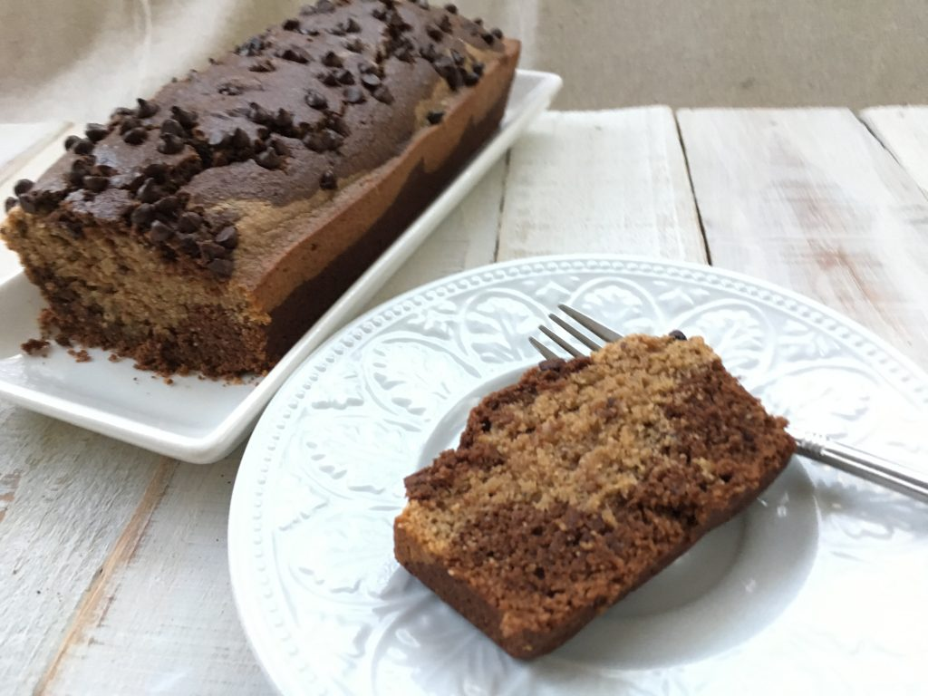 Chocolate Almond Butter Marble Cake